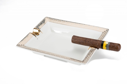 cigar ashtray Square ceramic
