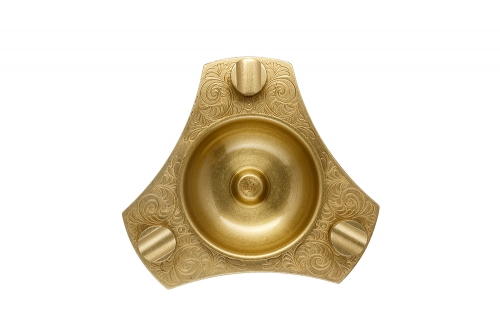 triangle gold cigar ashtray